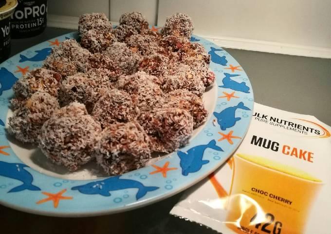 Rocky road protein balls