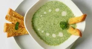 Brokoli Cream Soup With Garlic Bread breakfast day 1