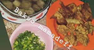 Bakso Malang Lengkap (daging Blender)