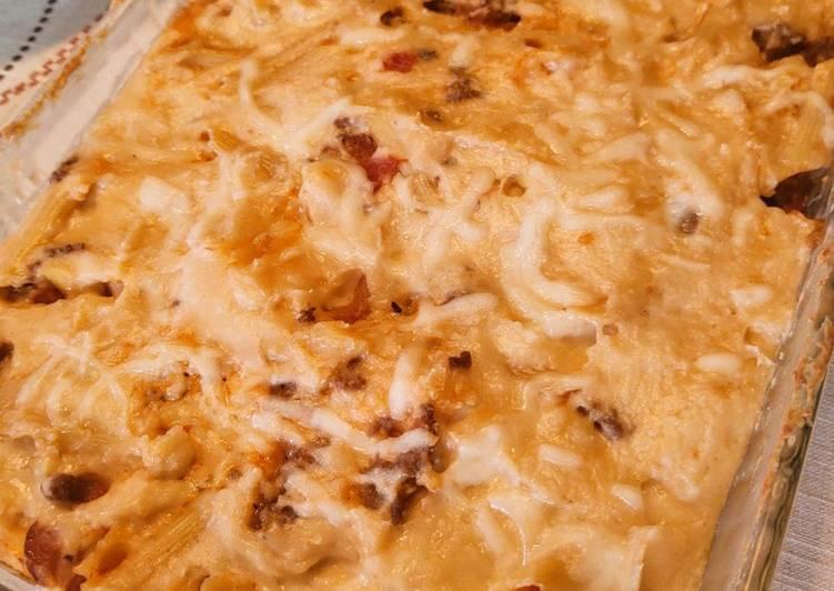 Baked Pasta w/ White Sauce