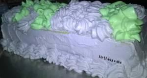 Birthday Cake dengan basic kue tanpa pengembang dan buttercream
