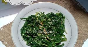 Salad Bayam Korea : Sigeumchi-namul (시금치나물)
