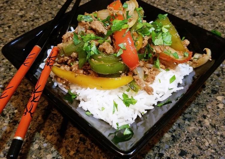 Thai Pork And Vegetable Rice Bowl