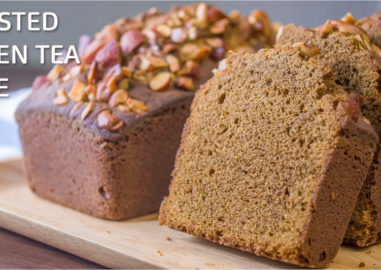 Roasted Green Tea and White Chocolate Pound Cake ☆Recipe Video☆