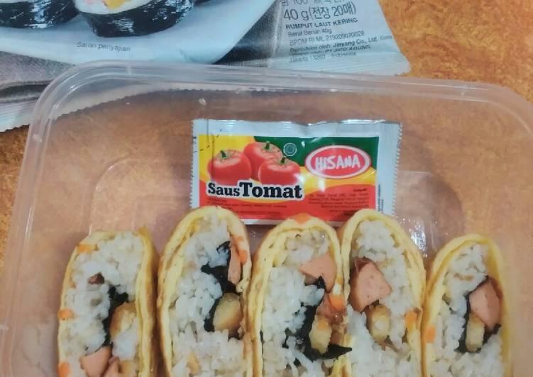 Rice tamagoyaki ala Indonesia bangeet #bekal anak