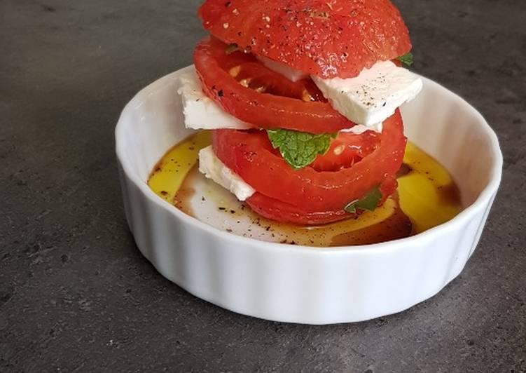 °Mille-feuilles de tomates feta/menthe°