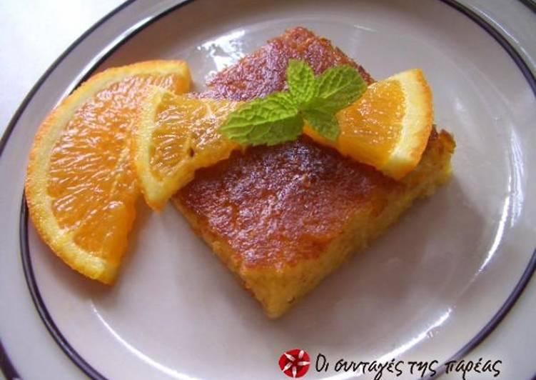 Orange pie without filo