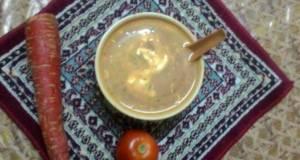 Paneer carrot and tomato soup