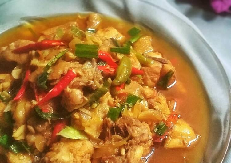 Sate Goreng Ayam Pedas