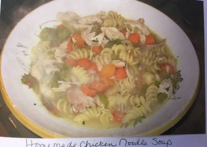 Mom's EASY home made chicken noodle soup