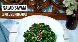 Salad Bayam (SiGeumchi NaMul) 👩🍳