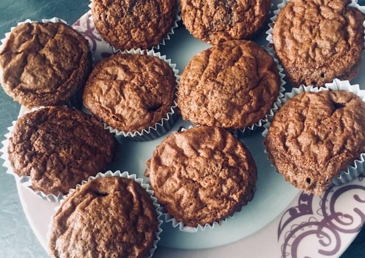 Muffins au chocolat moelleux...😊