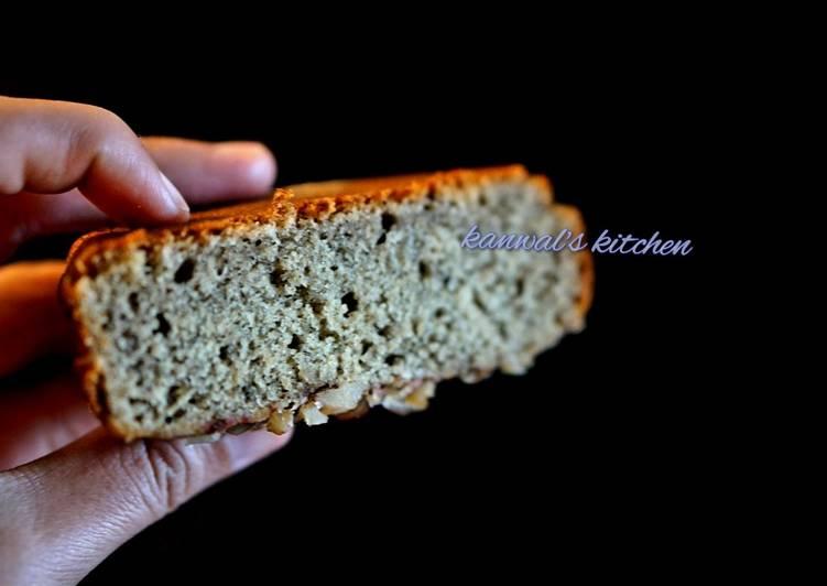 Whole-wheat Banana walnut cake