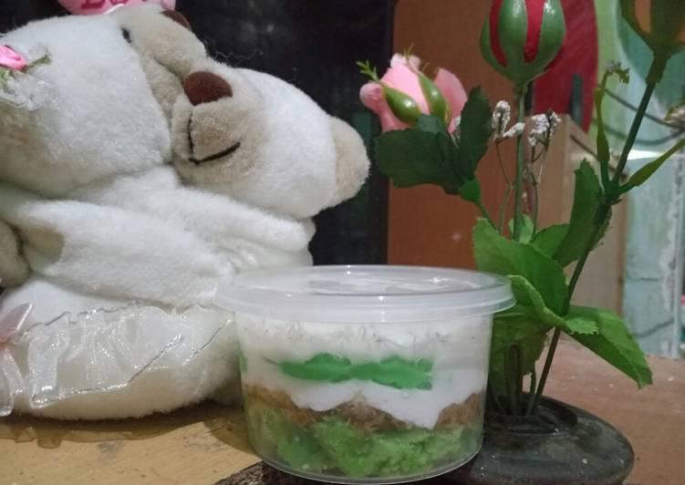 Klepon cake dessert