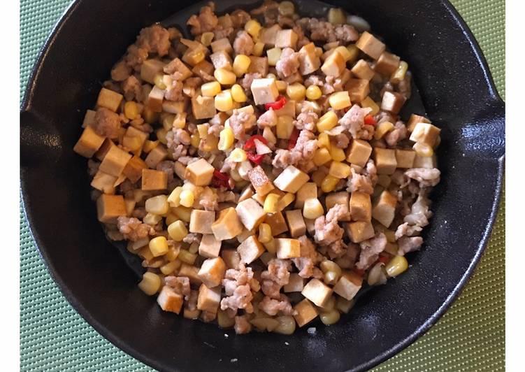 JC 營養午餐的日嚐 ? 發表的 玉米豆干炒肉末 食譜 - Cookpad