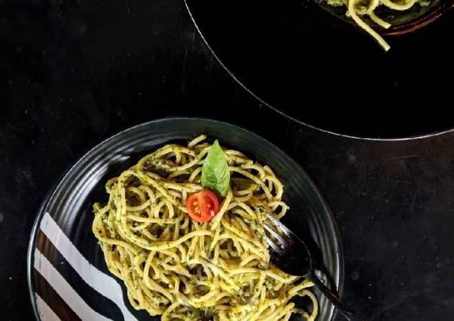 Basil Pesto Spaghetti Pasta
