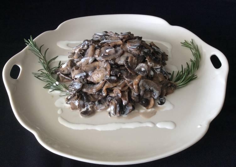 Garlic Creamed Mushrooms
