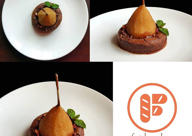 Poire Belle Hélène Chocolate Lava Cake