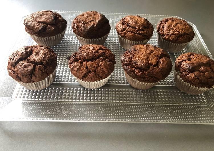 Muffins chocolat noix de coco