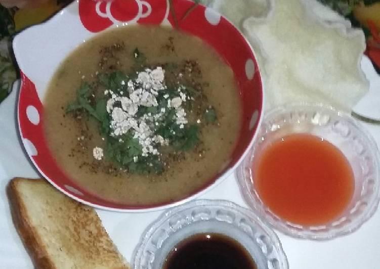 Porridge dal chicken soup