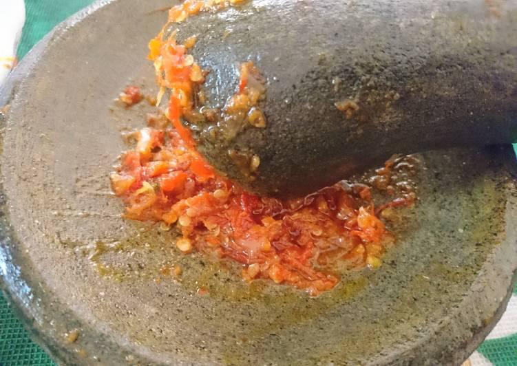Sambal Ayam Geprek anti ribet level 20😂