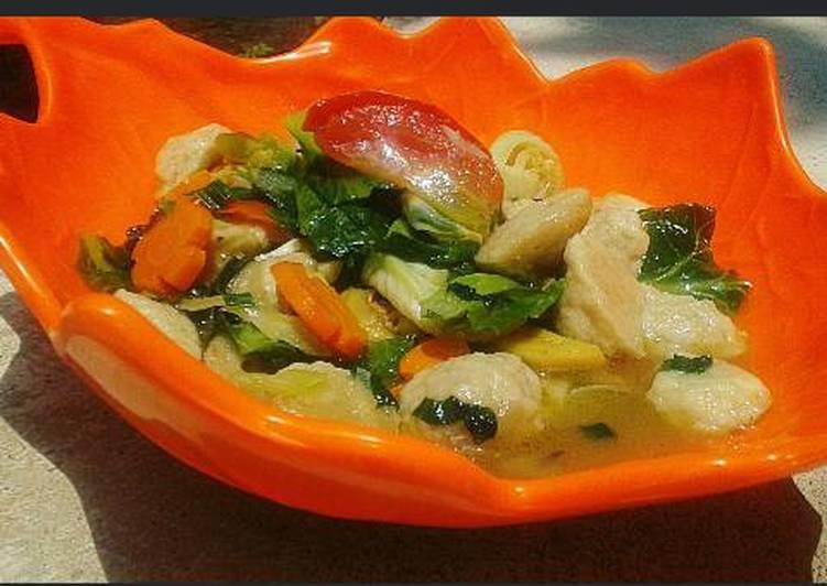 Tumis Bakso Sayuran