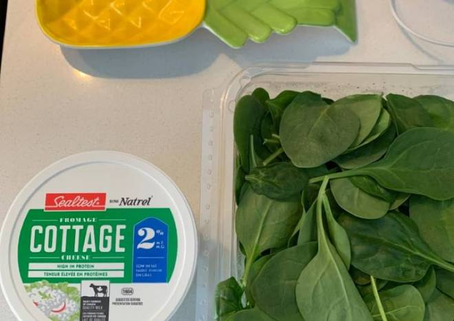 Cottage & spinach Bolognese lasagna