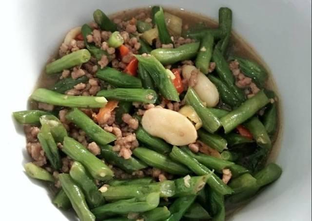 Tumis Buncis + daging sapi giling