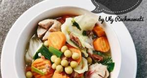 Sup Kacang Polong Bakso