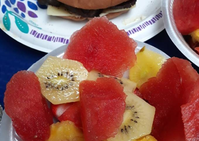 Salted Watermelon Fruit Salad