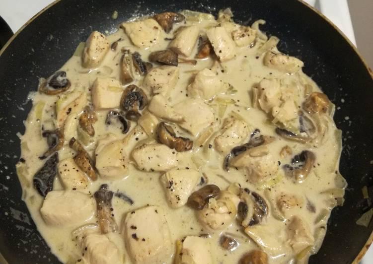 Creamy Chicken with Mushroom Sauce