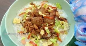 🥣🍚Bubur Nasi Sambal Bilis Daging