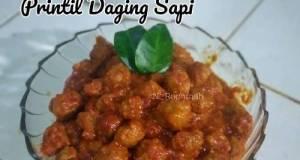 Printil daging sapi (sambal goreng printil / bola bola daging)