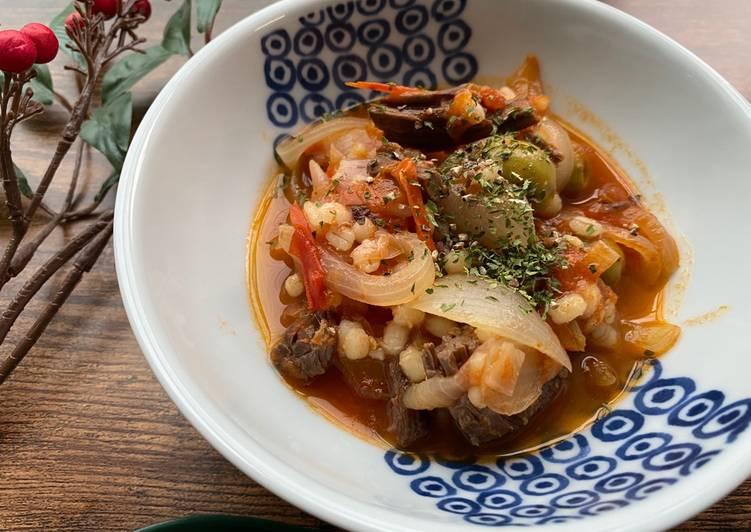 Tomato Beef Soup (Soy Sauce Taste)
