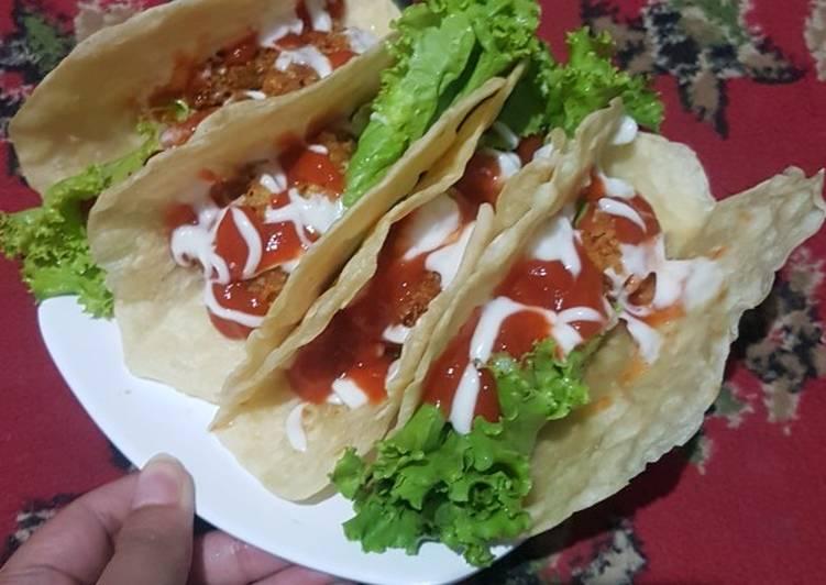 Kebab isi ayam crispy simple