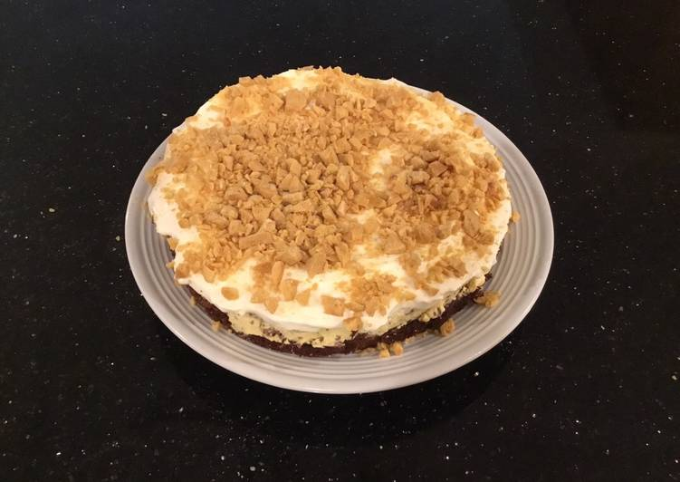French Vanilla Coffee Cream Torte With Coffee Crunch Topping
