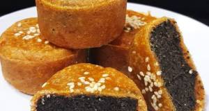 Keto Mooncake Tausa (Wijen) Hitam Sugar & Gluten Free #Ketopad