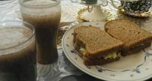 Healthy breakfast good for diet 😉 chia lemon juice and egg cucumber sandwich 🥪 🥒 🥚