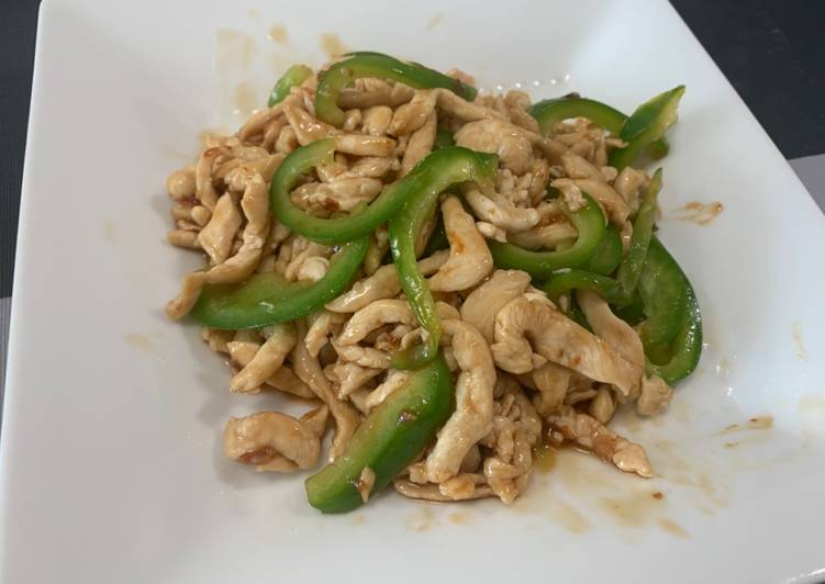 , Easiest Way to Cook Perfect Chinese style Stir-Fry Containing Green pepper and Meat