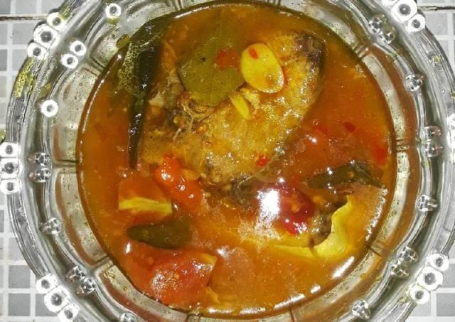 Ikan Kuwe Kuah Asam Pedas Daun Kari