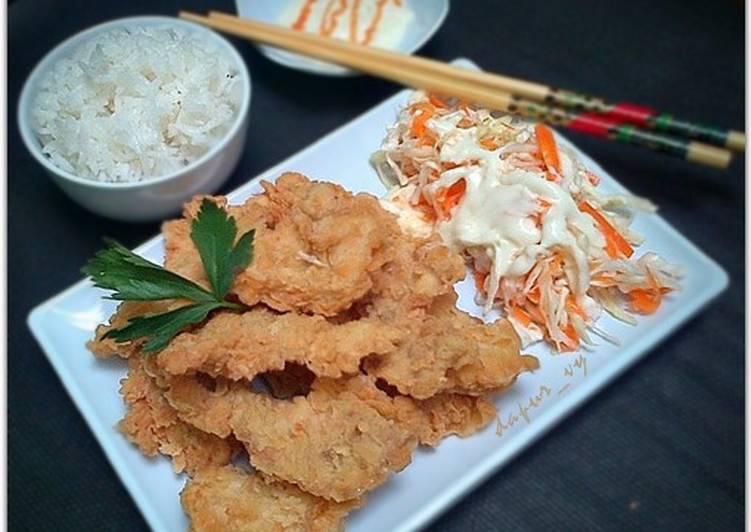 Crispy Chicken Bites with salad mayonnaise ala hokben (#pr_ayam)