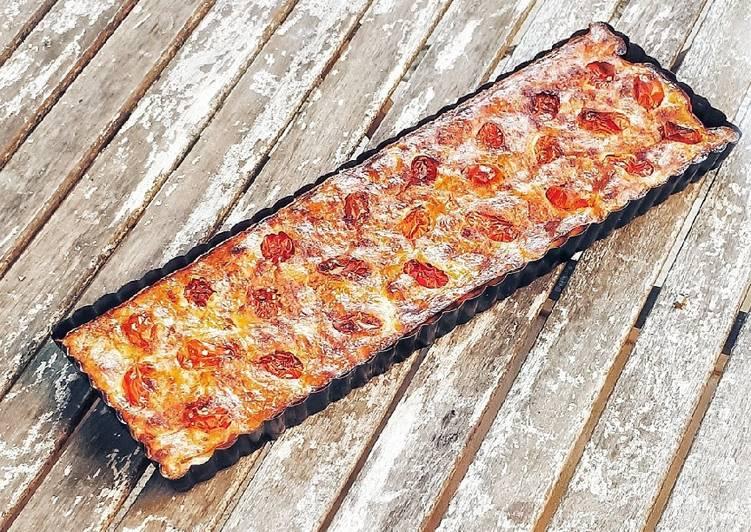 Quiche sans pâte thon-tomate-parmesan
