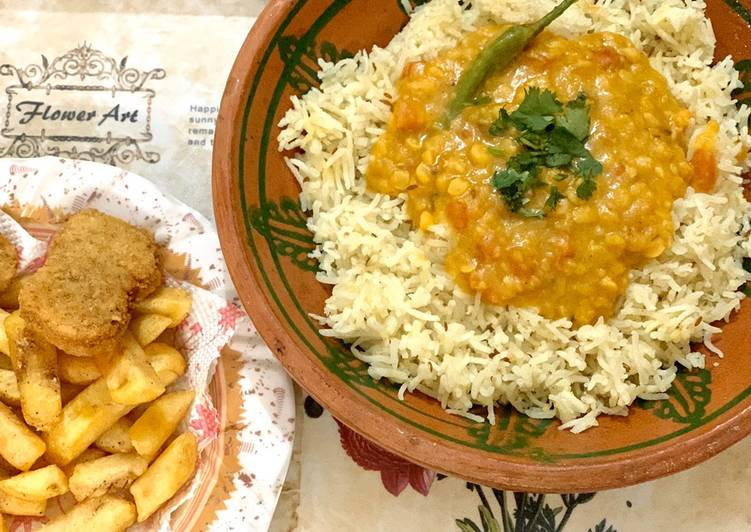 Special Daal Mix with Zeera rice