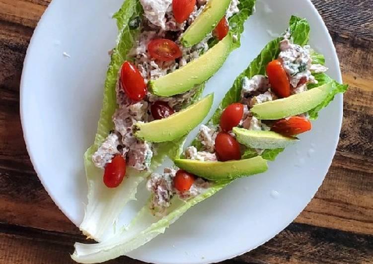 BLTA Chicken Salad Lettuce Boats