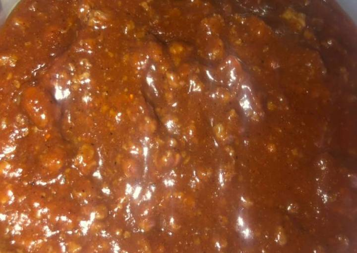 Coney sauce or sloppy joes