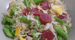 腊肠四季豆炒饭 Fried Rice With Chinese Sausage & French Beans