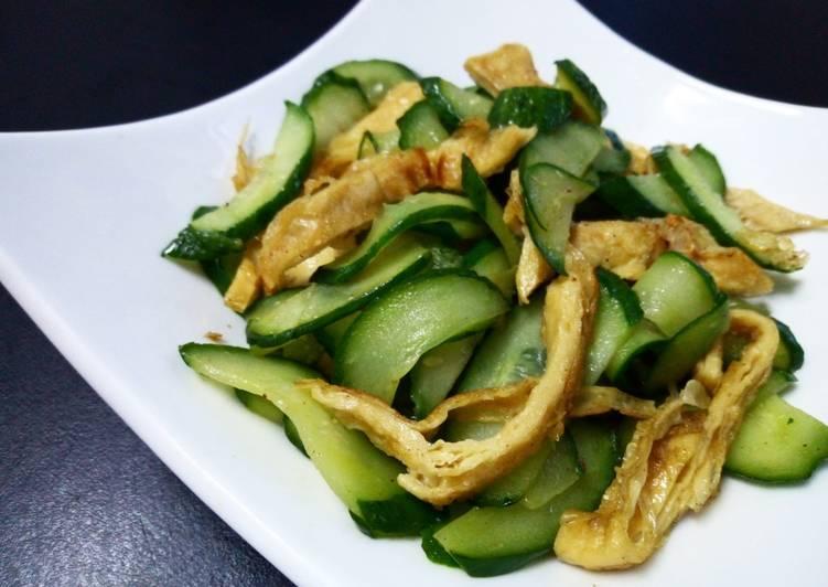菜媽媽蔬食 發表的 小黃瓜豆絲 食譜 - Cookpad