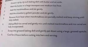 Strawberry Marshmallow Treats