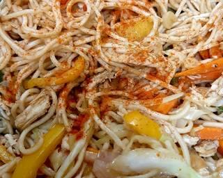 Smoky garlic chicken noodles 😊 #mycookbook