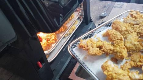 Pollo rebozado en freidora de aire